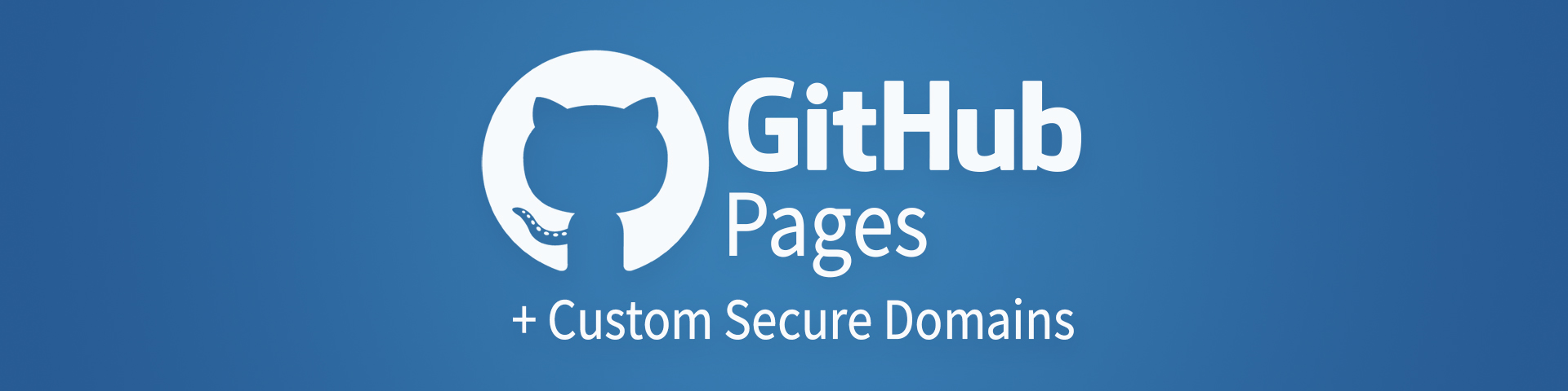 Custom secure domains with GitHub Pages