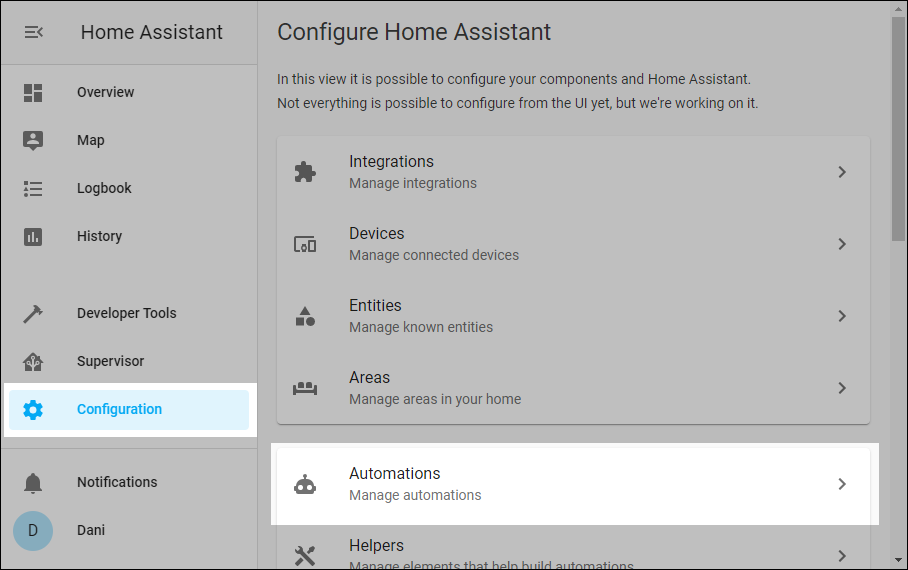 Home Assistant Automations