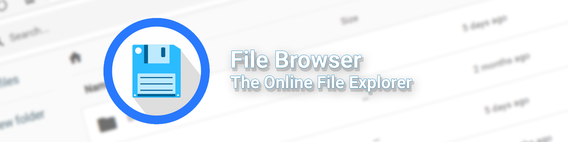 Online file browser for your server