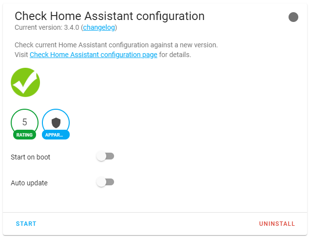 Instalación Check Home Assistant Configuration